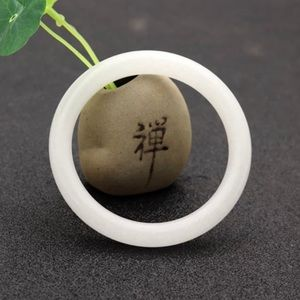 Jewelry - Natural White Chinese Jade Bracelet Bangle